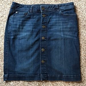 Tommy Hilfiger Button front Jean Skirt size 4